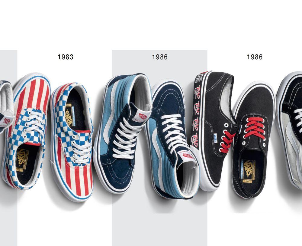 1986 RAD Vans Shoes Poster | Shoe poster, Vans, Sneaker
