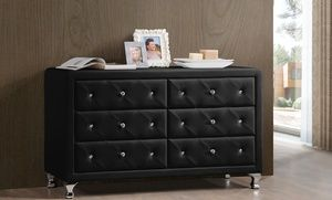 Groupon Stella Faux Crystal Tufted Dressers And Side Tables In Missing Location Value Deal Price 149 99