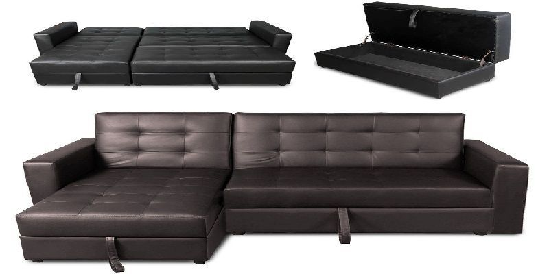 Real Leather Sofa Bed Regarding House