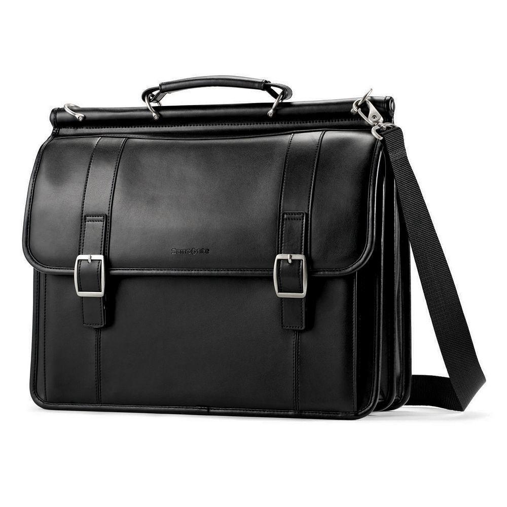 dc18fd7076d7 Samsonite Dowel Leather Flapover Laptop Business Case