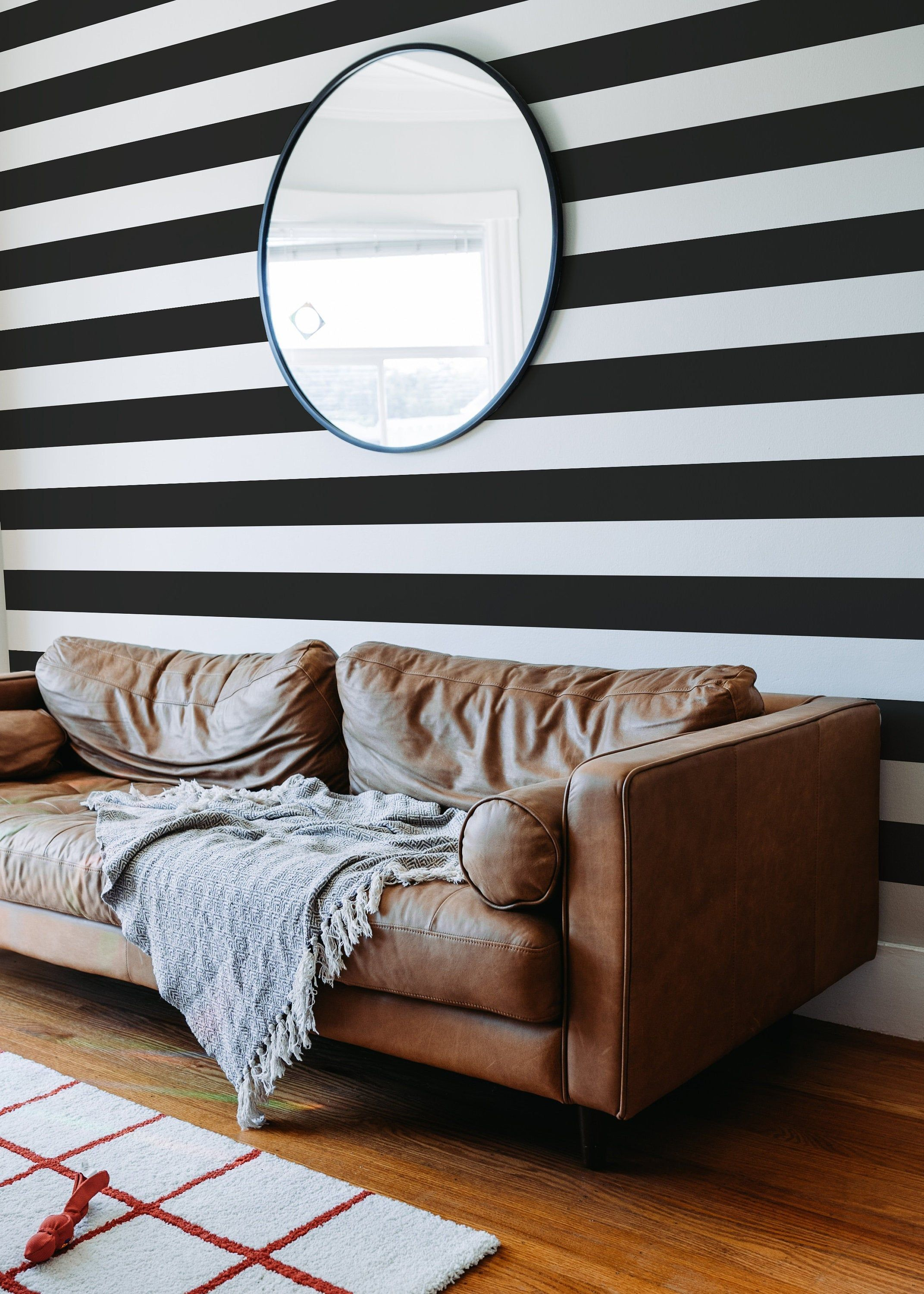 Best Black And White Stripe Self Adhesive Wallpaper Candy 400 x 300