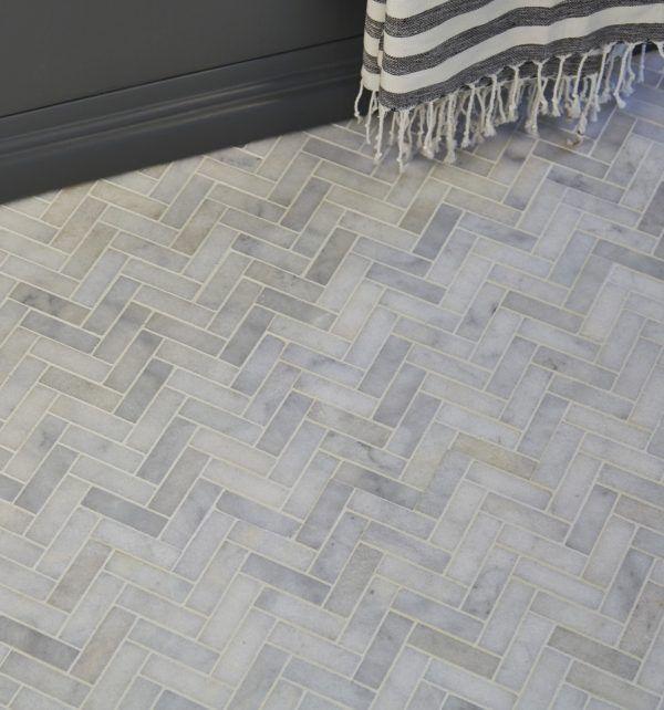 Aliseo Marble Herringbone Mosaic