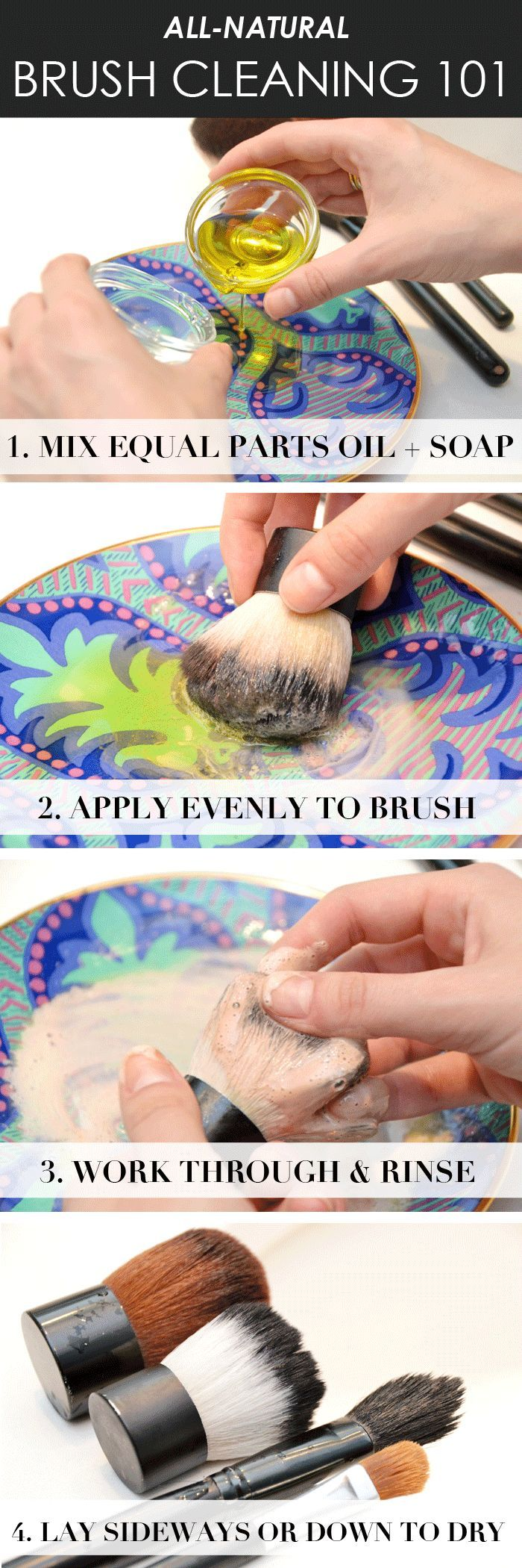 Fitness Club How to Clean your Makeup Brushes Naturally