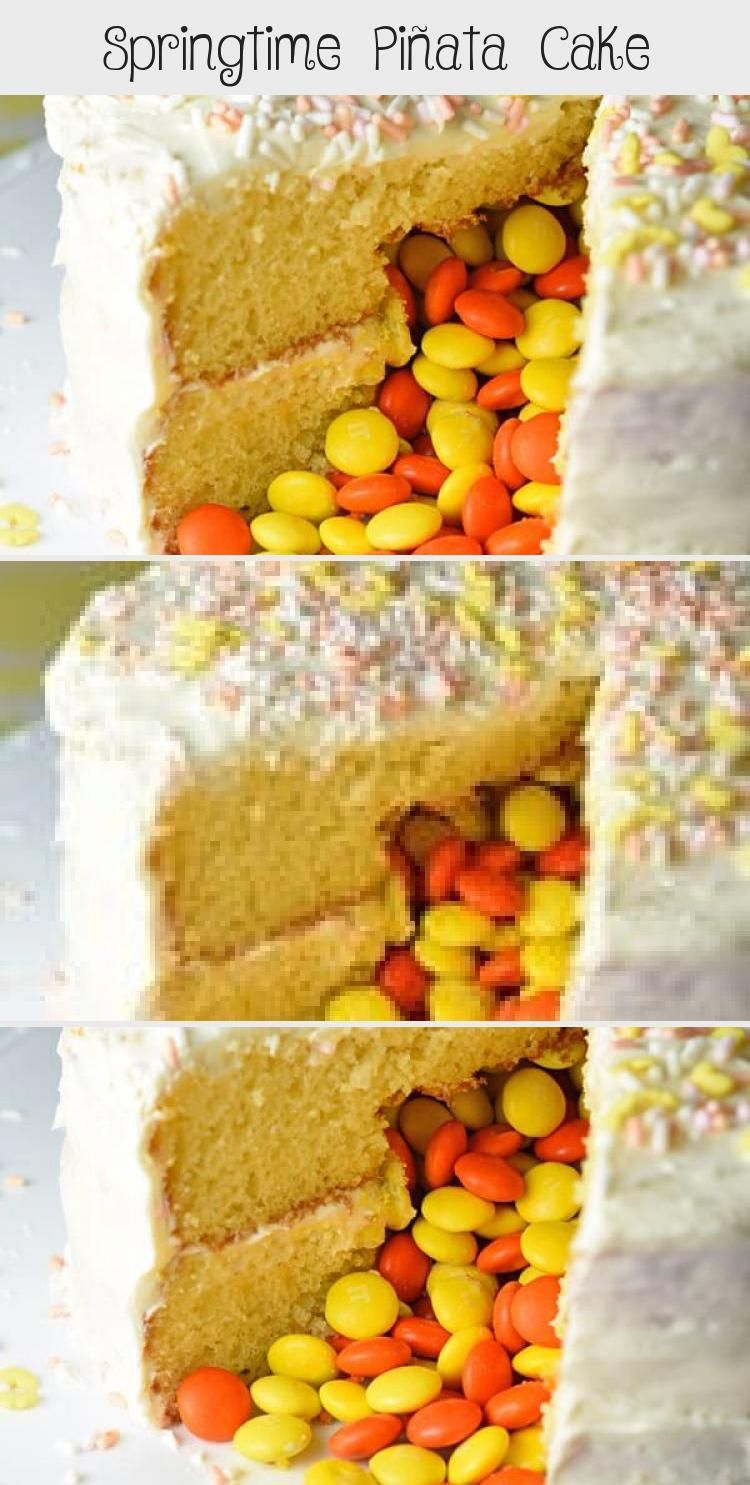 Photo of No matter if you call it a Piñata cake, Reveal cake, or Surprise cake, I call i… – Ostern