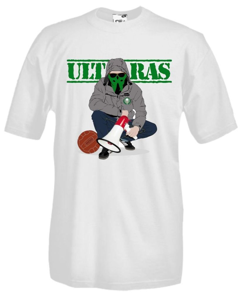 T-shirt Maglia J428 Ultras Style Green Brigade Celtic Hooligans Casuals