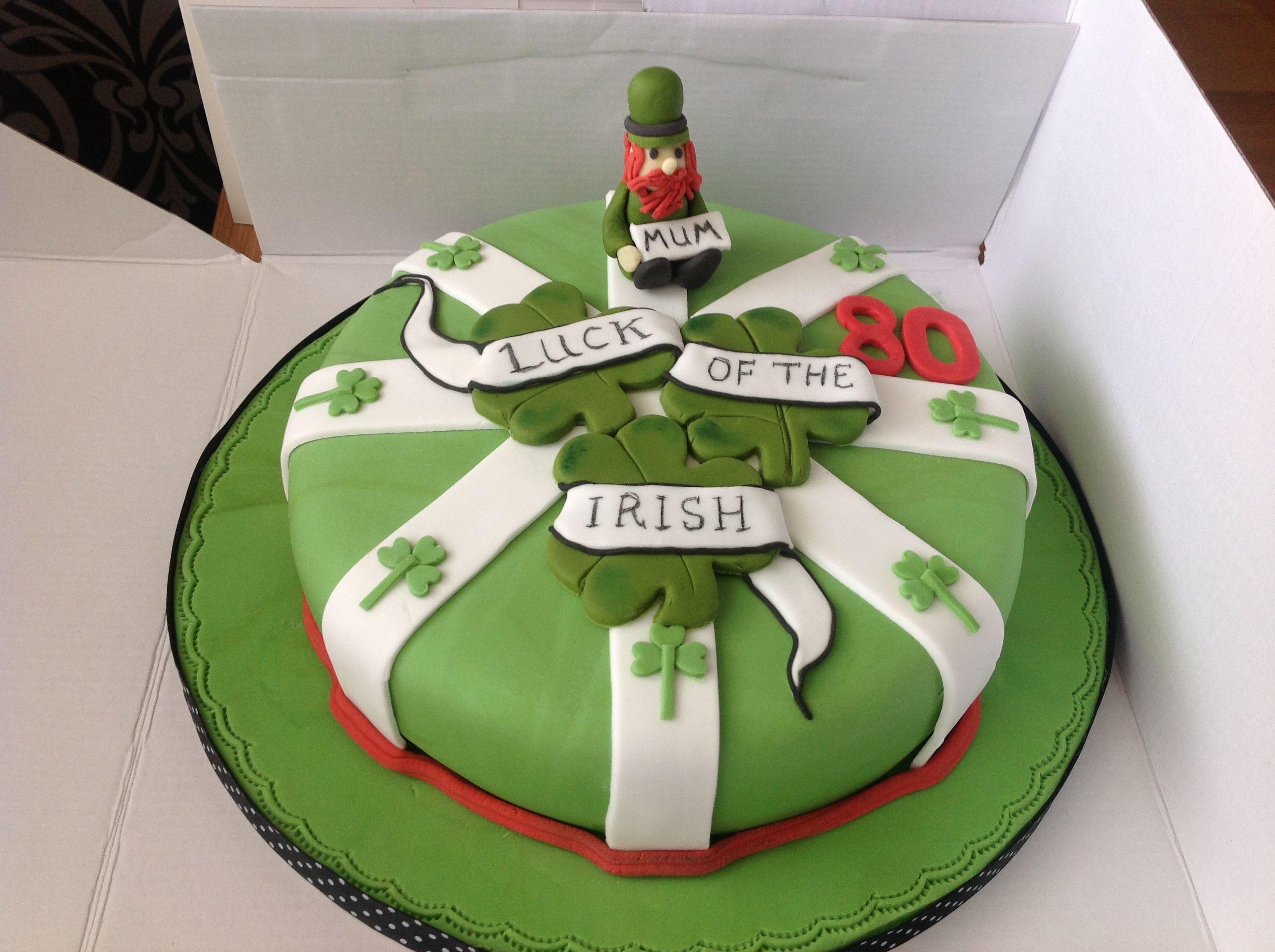 Irish themed cake Irish cake, Irish birthday cake, Irish