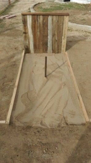 Diy regulation horseshoe pit i made