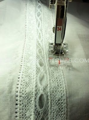 Lace insertion tutorial.
