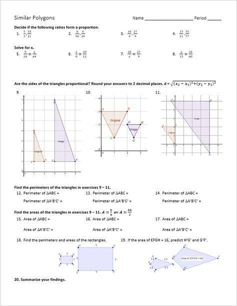 Similar Polygon Exploration Zoie Geometry Math Geometry