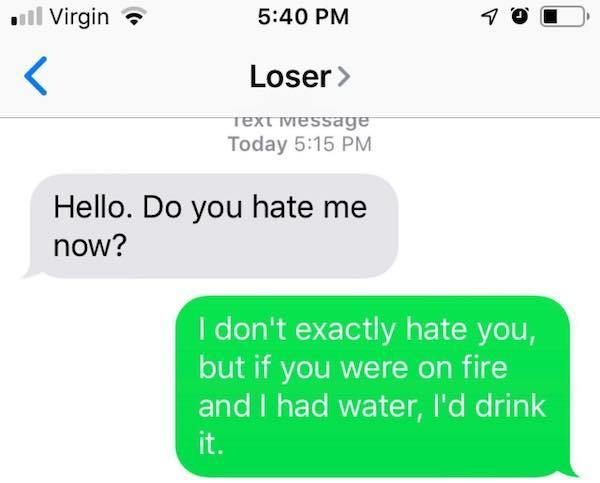 30 texts from crazy exes