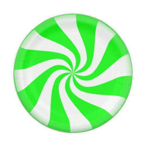 Green Peppermint Swirls Paper Plates  sc 1 st  Pinterest & Green Peppermint Swirls Paper Plates | Peppermint