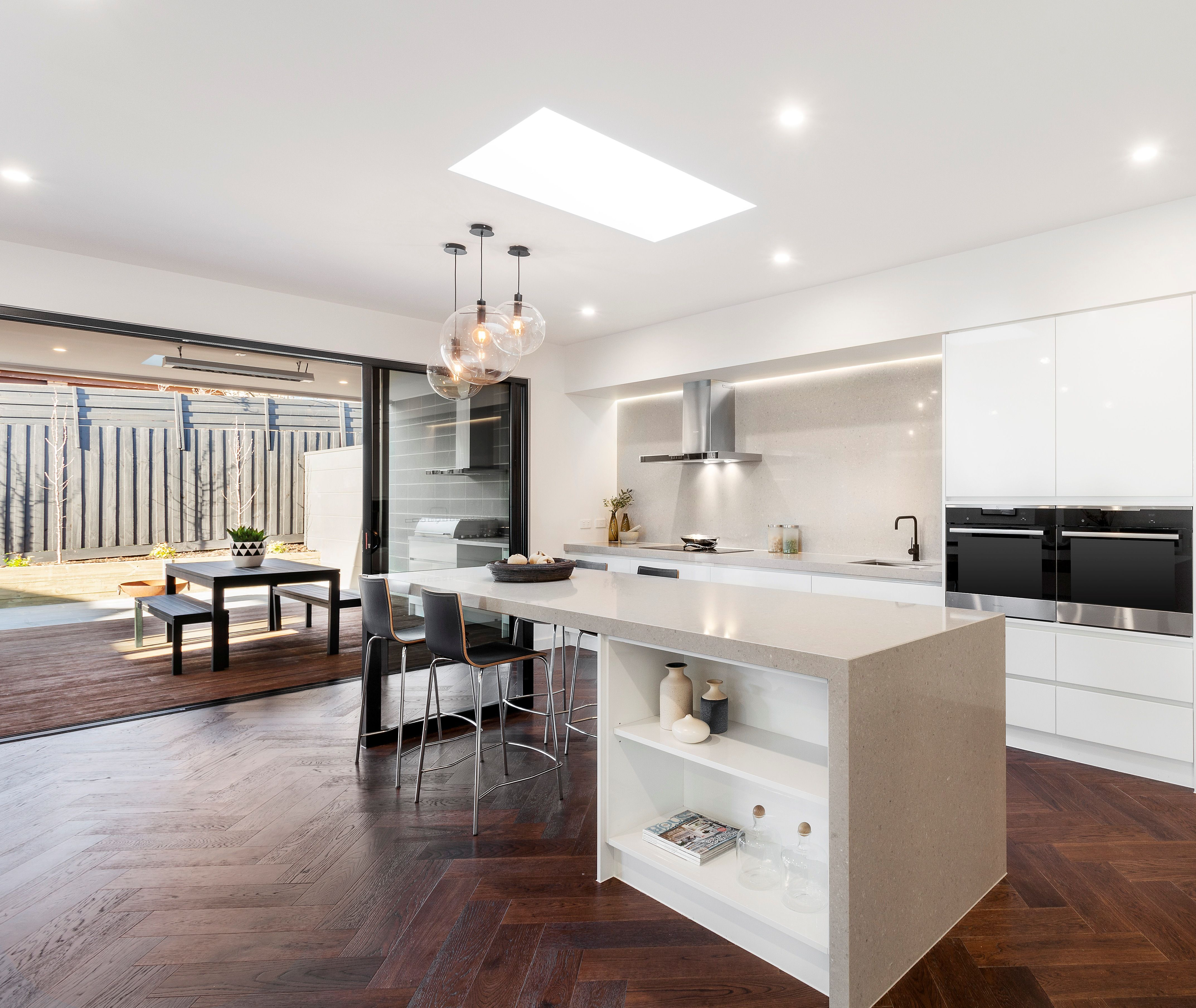 Ash Grey Quantum Quartz Benchtops Amp Splashback By Cahill Building Group White Modern