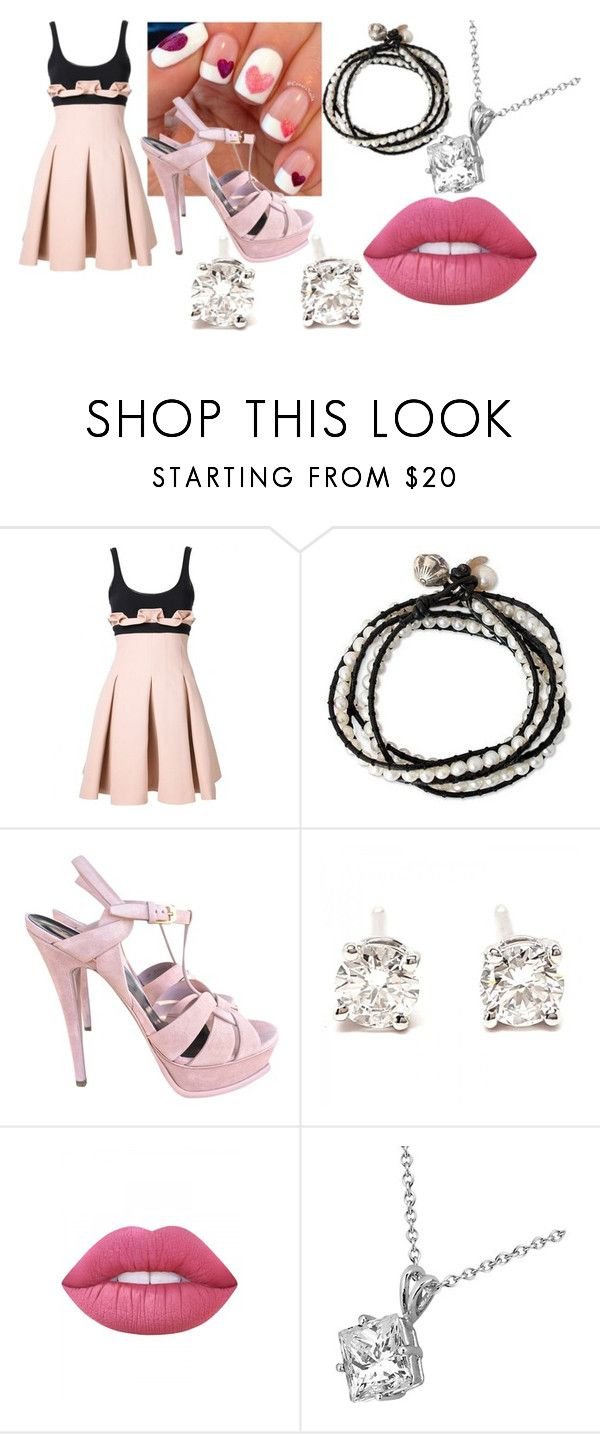 """""""Perfectly Pink"""" by kyouya on Polyvore featuring David Koma, NOVICA, Yves Saint Laurent, Tiffany & Co., Lime Crime and Allurez"""