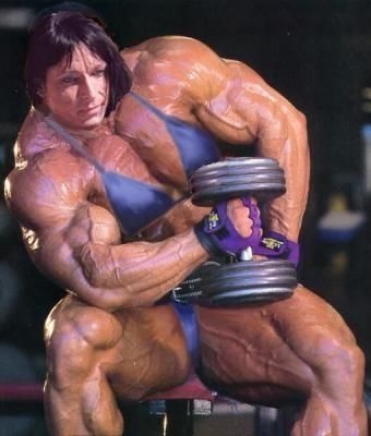 Monique Hayes - massive muscle woman | Morphed Female ...