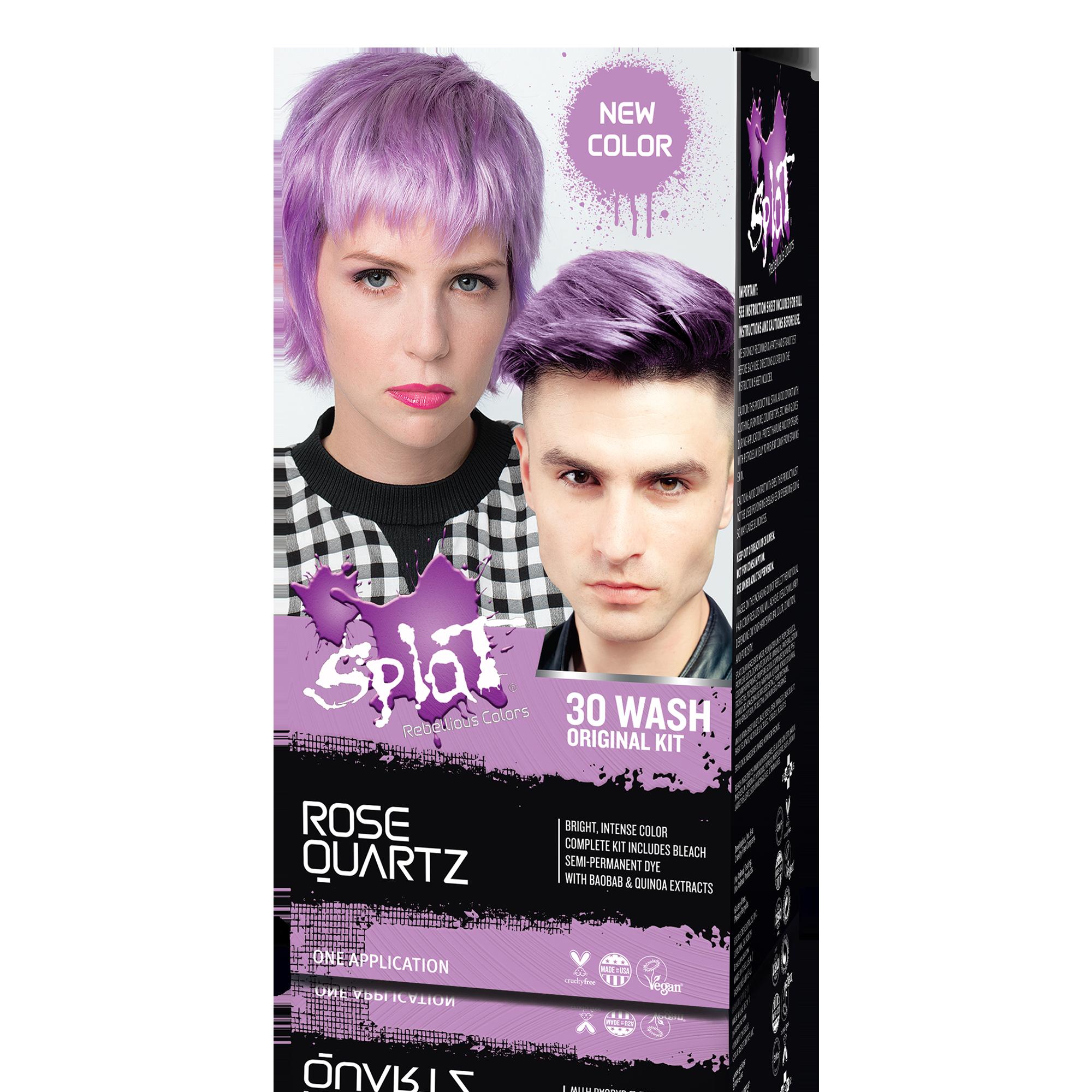 Splat Lusty Lavender Hair Color Kit Semi Permanent Purple Hair Dye Walmart Com Lavender Hair Colors Permanent Purple Hair Dye Dyed Hair Purple