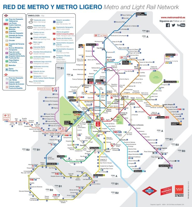 Spanish Metro Map.Madrid Metro Map Madrid Trip Madrid Madrid Metro Learning Spanish