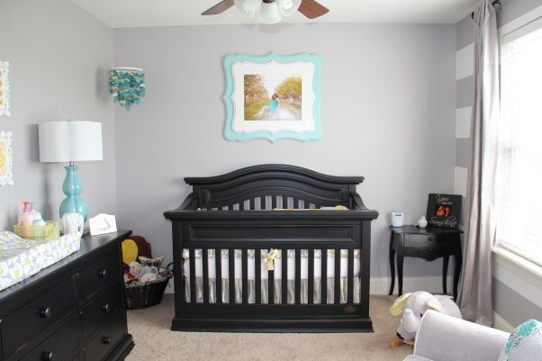 Yellow, Grey and Teal Gender Neutral Nursery