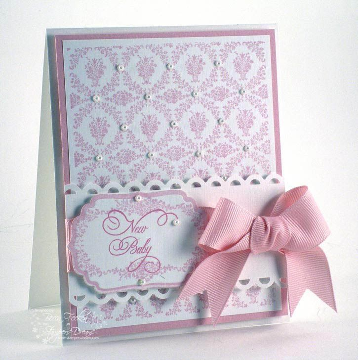 a lovely baby girl card ... from Amazing Paper Grace