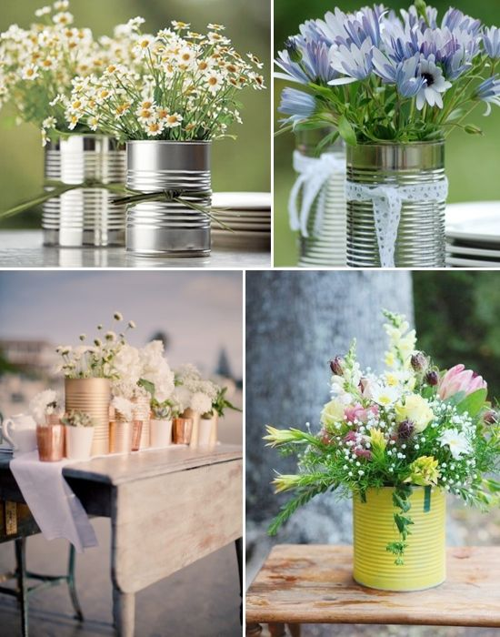 Vase ideas for wedding centerpieces