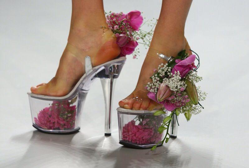 Flowers inside   Unique shoes, Crazy