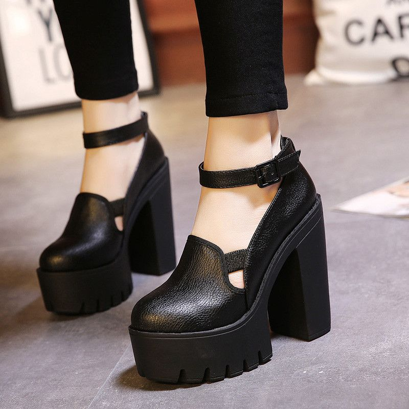 Zapatos negros de otoño casual para mujer 4tTz1WoDq1