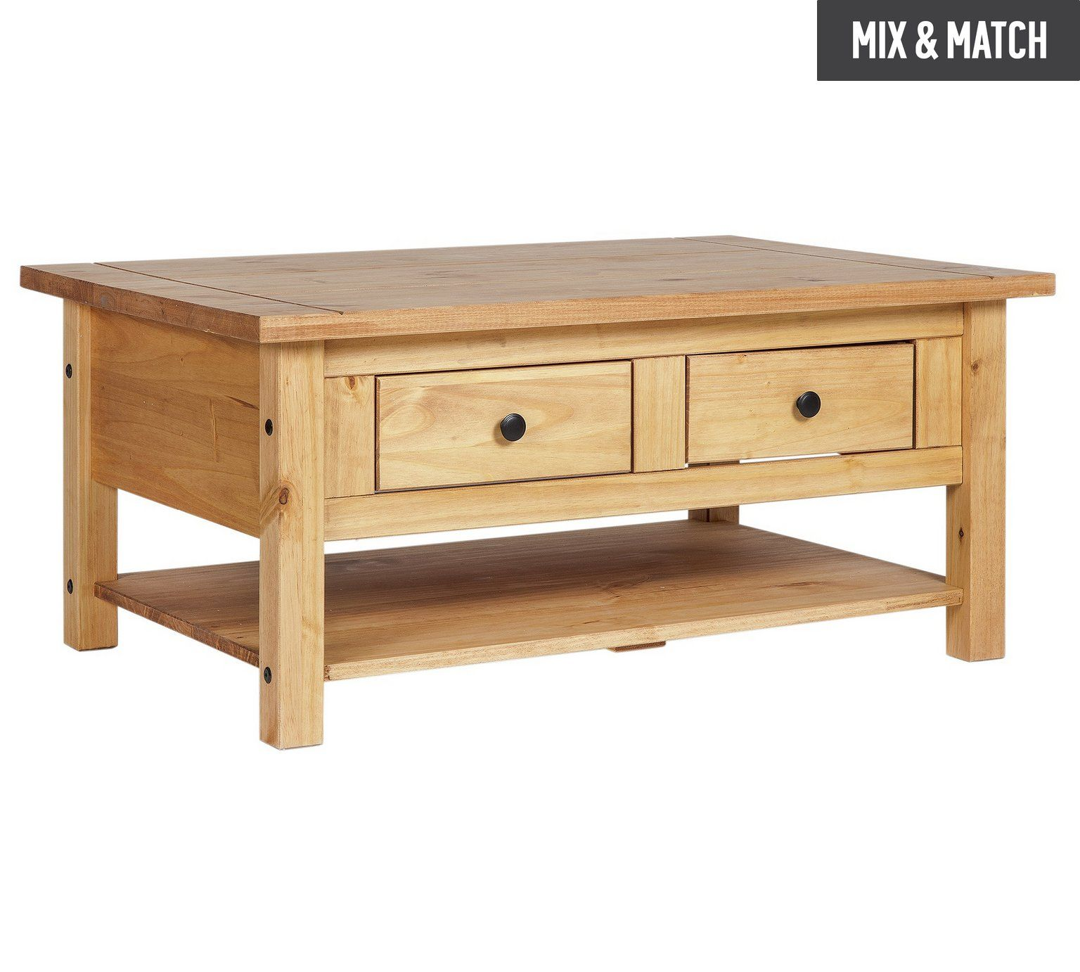 side tables living room uk navy exchange furniture buy home san diego 2 drawers 1 shelf coffee table pine at argos co