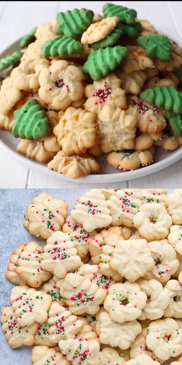 Easy Cream Cheese Spritz Cookies Recipe Made With A Cookie Press Soft Buttery Sweet Cream Cheese Spritz Cookies Cookie Press Recipes Spritz Cookie Recipe