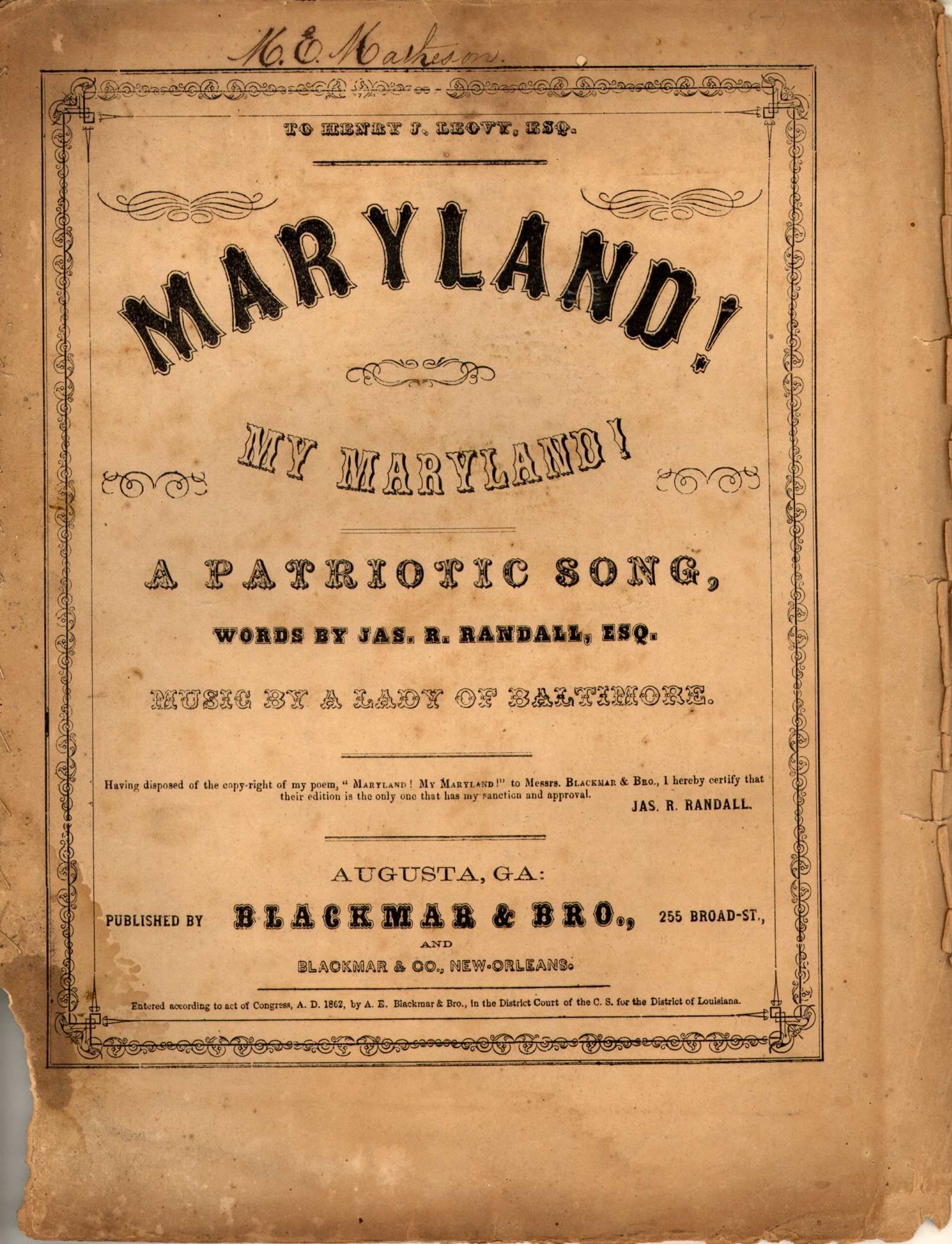 24x36 Vintage Civil War Parole Camp Annapolis MD map 1864