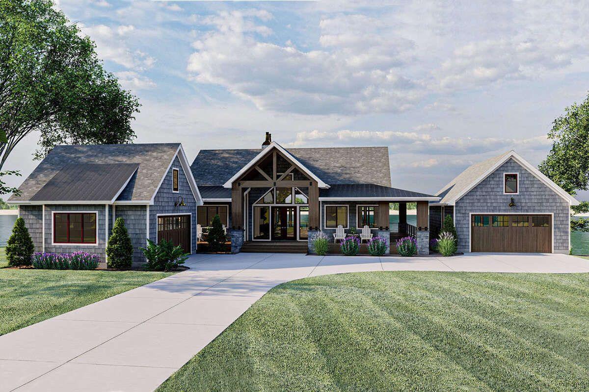 House Plan 963 00465 Craftsman Plan 2 150 Square Feet 2 5 Bedrooms 2 5 Bathrooms In 2021 Craftsman House Plans Craftsman House Craftsman House Plan