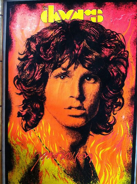 Jim Morrison Jim Morrison Black Light Posters Album Art