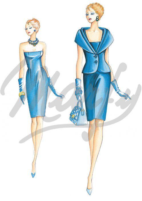 Molde 2145 | Patrón de costura Chaquetas / Chal | MODA VIII AZULES ...