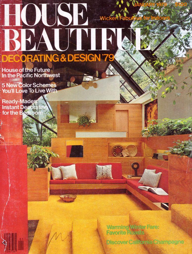House Beautiful January 1979 Vintage Interior Design Retro