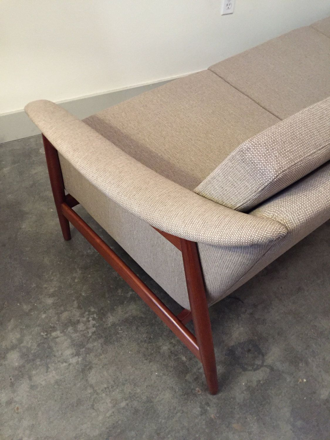 Handsome Fully Restored Danish Sofa By Alf Svensson For Dux. The Sofa Was  Just Reupholstered