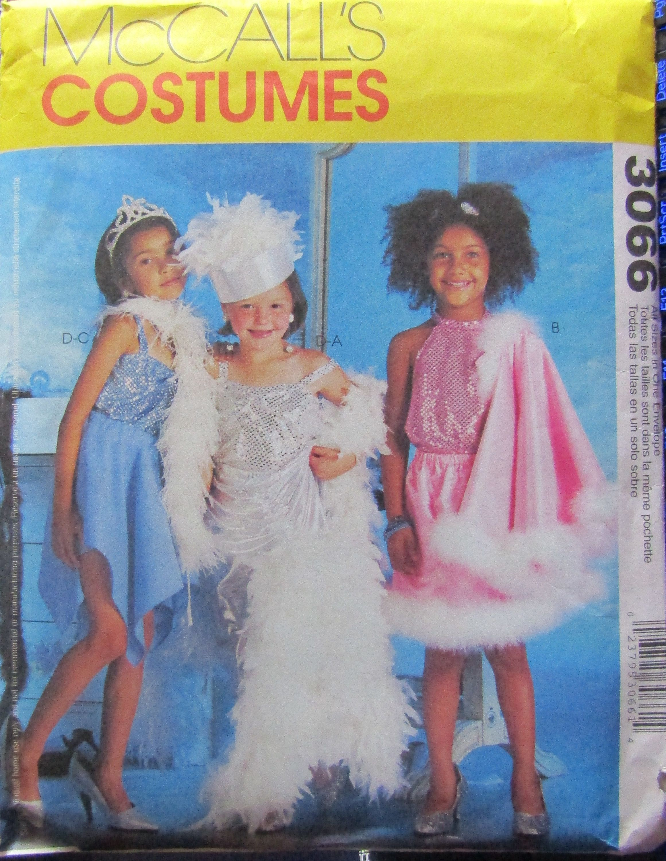 5760010e8439a McCalls 3066 Childrens & Girls Dress-up Clothes Sewing Pattern Size 3-8  Uncut by SimpsonDesignsStudio on Etsy