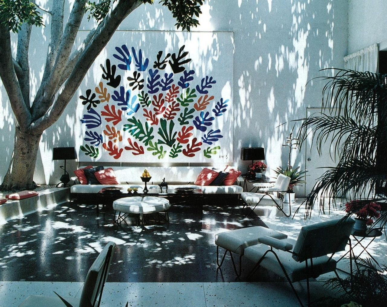 home of art collector Frances Lasker Brody (who died at 93 in 2009) - with Henri Matisse's 1953 ceramic art called 'The Sheaf'.