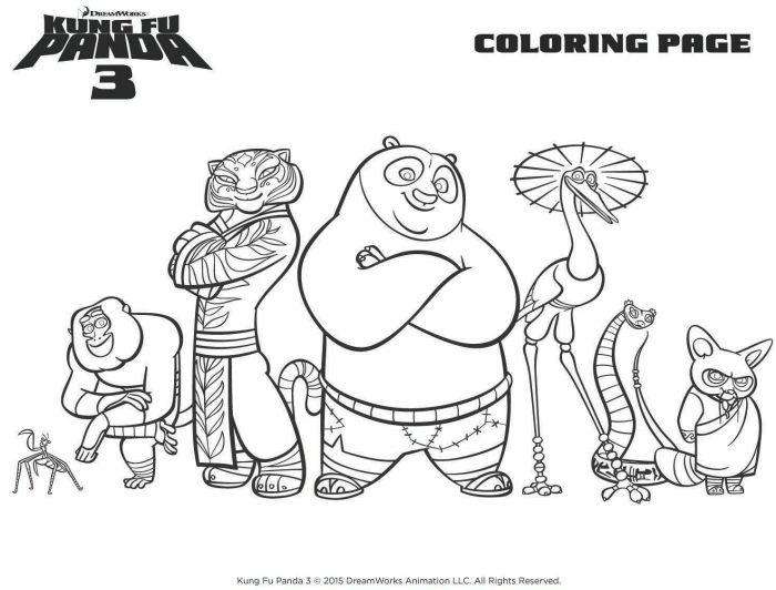 Kung Fu Panda Printable Coloring Page | Fox Home Entertainment ...