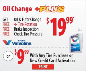 Tread Quarters Discount Tire Home Oil Change Discount