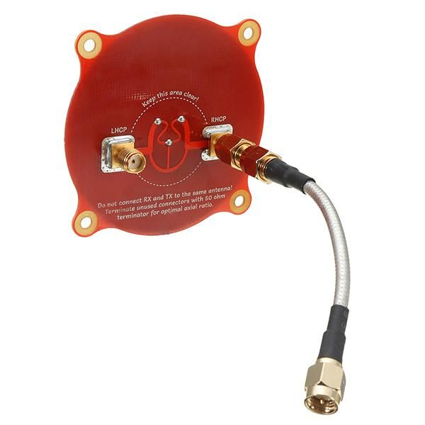 Triple Feed Patch 5.8GHz 9.4dBi Directional Circular Polarized Antenna