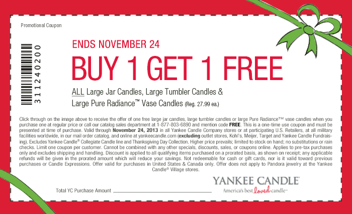 photograph about Yankee Candle Coupons Printable titled Pinned November 21st: Instant huge #candle #cost-free at Yankee