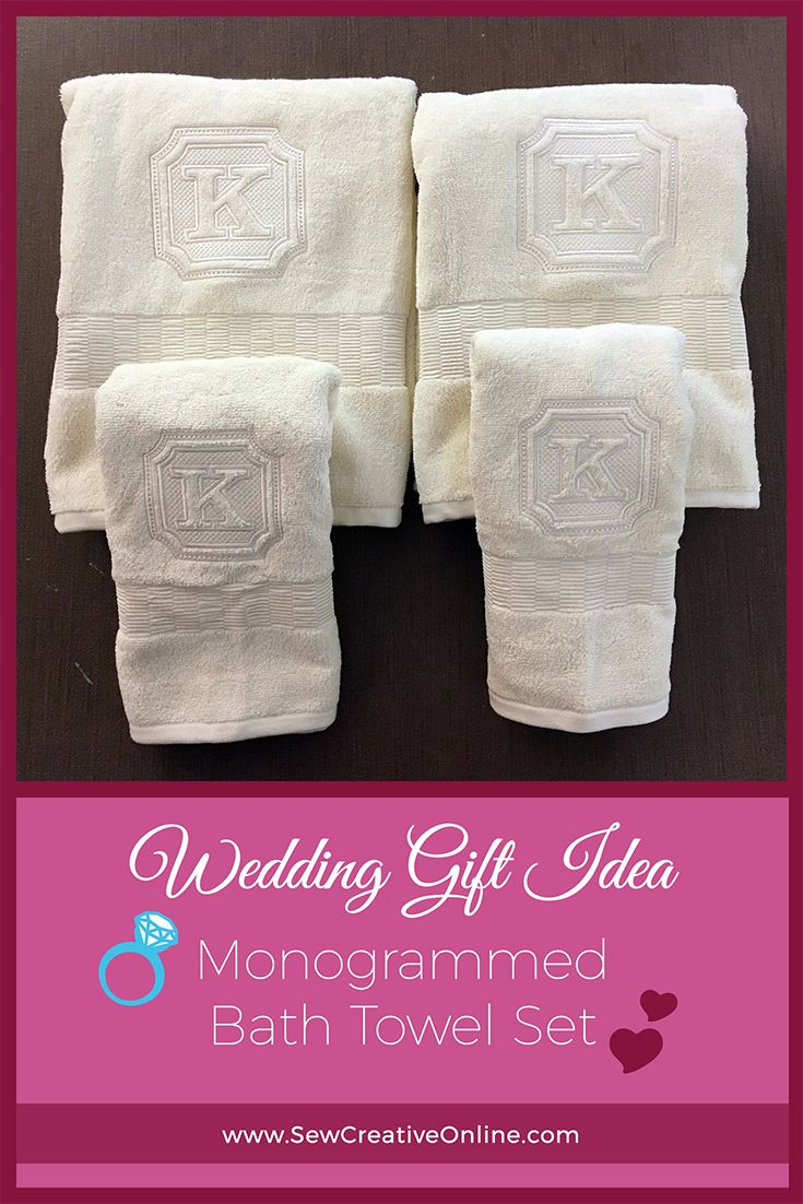 Looking for a wedding gift or shower present? A monogrammed bath ...