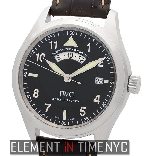IWC Pilot Collection  Pilot UTC 39mm Stainless Steel Black Spitfire Dial  IW3251-05 - iN Stock ($3,649.00)