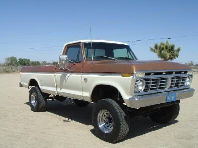 1974 F250 Highboy Truck 1975 F250 Highboy Original Bronze And