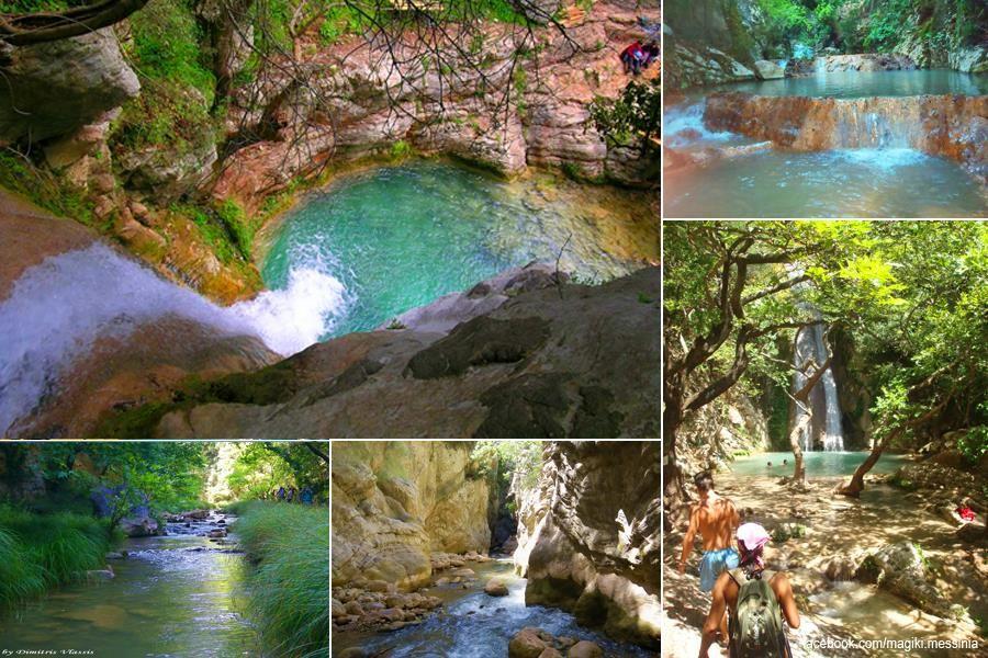 Enjoying messinia .. crossing Neda river Neda: a mythical river - Greece