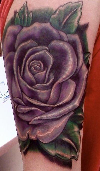 Tattoonow Tattoos Ryan Nutini Purple Rose Tattoo Lavender