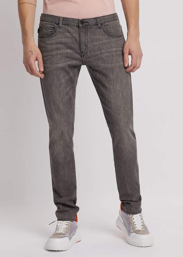 311ecf5489 Emporio Armani Extra Slim-Fit J10 Stretch Cotton Denim Jeans in 2019 ...