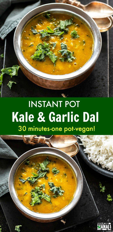 Instant Pot Kale Garlic Dal