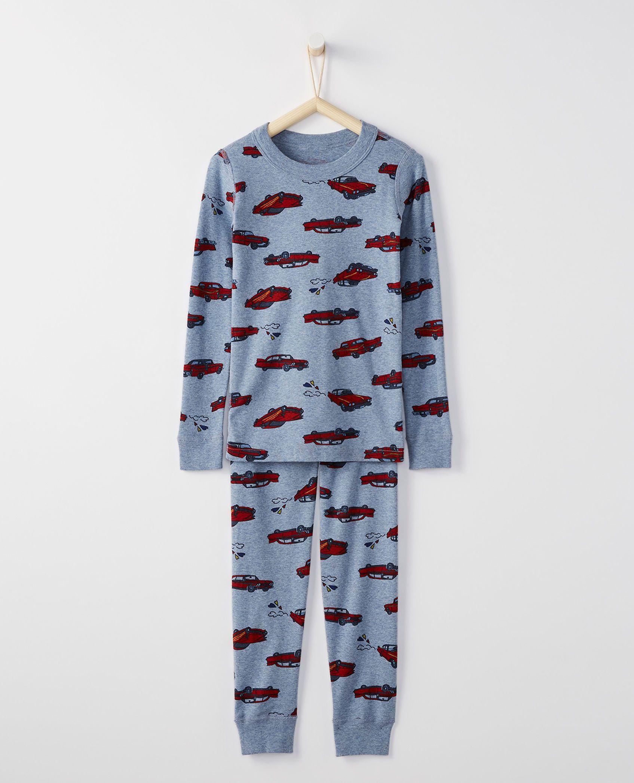f21fa7e9f Long John Pajamas In Organic Cotton in Heart Fueled - main