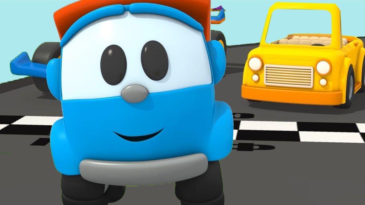 Leo costruisce una macchina cabriolet cartoni animati per bambini