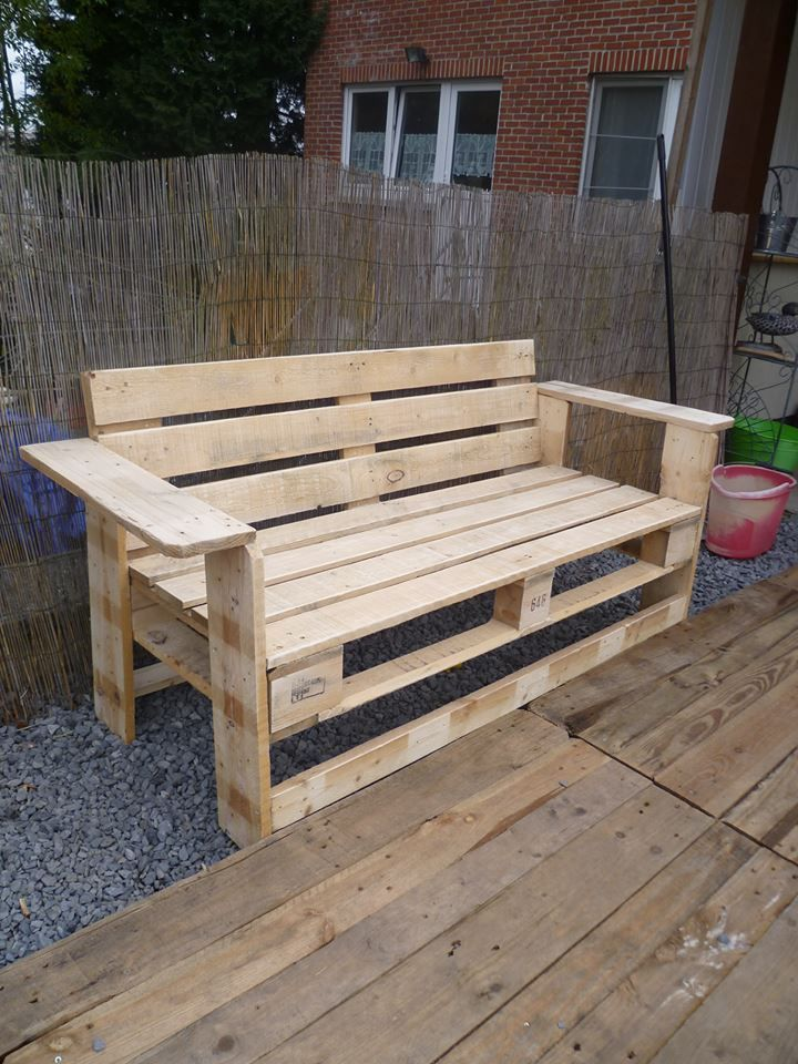 Outdoor Pallet Bench 1001 Pallets Pallet Furniture Outdoor Diy Pallet Furniture Pallet Outdoor