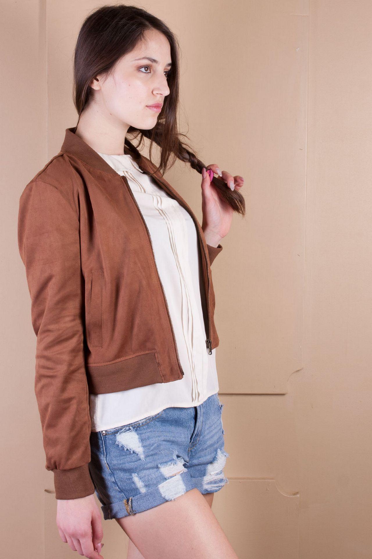Vestibilità regular Collo coreano Chiusura frontale con zip Tasche frontali verticali